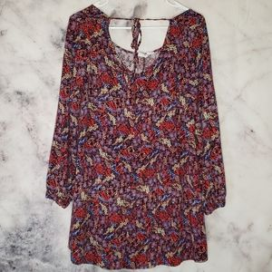 2/$20 Somedays lovin island floral mini dress sz S